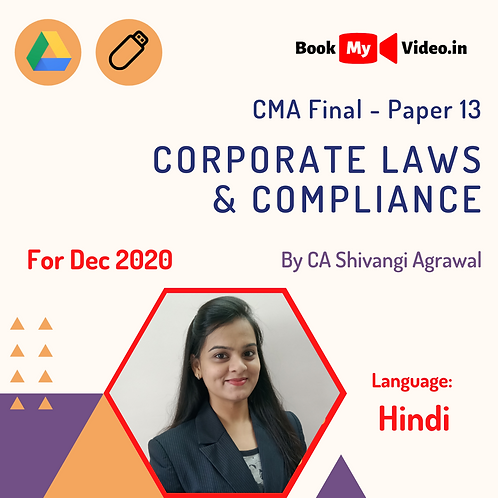 CMA Final - Corporate Laws & Compliance by CA Shivangi Agrawal (Dec 2020)