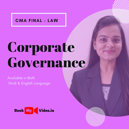 CMA Final Law - Corporate Governance