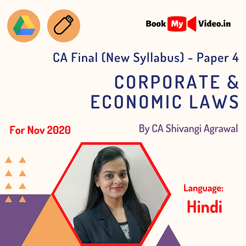 CA Final New Syllabus - Corporate & Economic Laws by CA Shivangi Agrawal -Nov 20