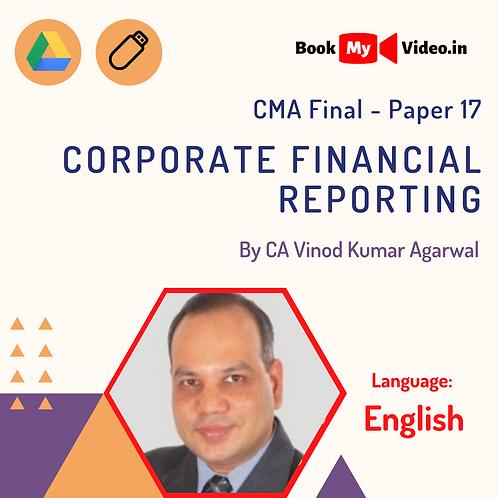 CMA Final - Corporate Financial Reporting by CA Vinod Kumar Agarwal (In English)