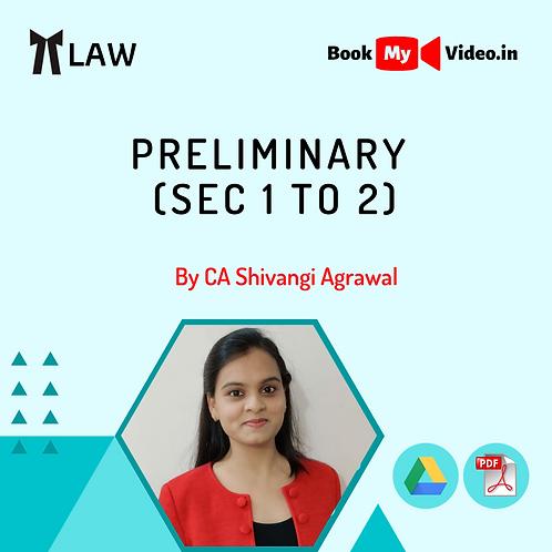 Company Law - Preliminary