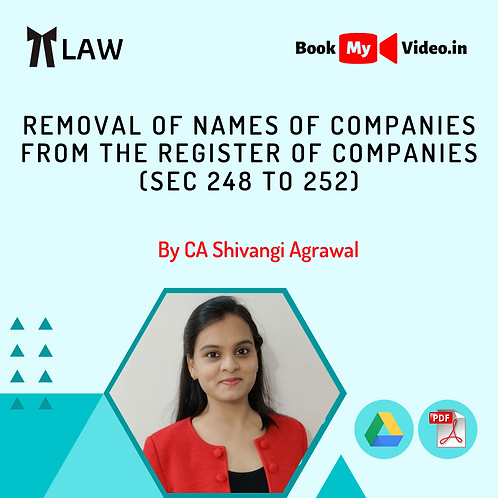 Company Law - Removal of Names of Companies From the Register of Companies