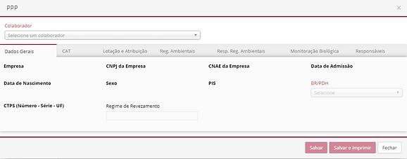 GCINET RH Software - PPP - Dados Gerais
