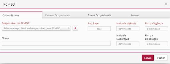 GCINET RH Software - PCMSO Dados Básicos