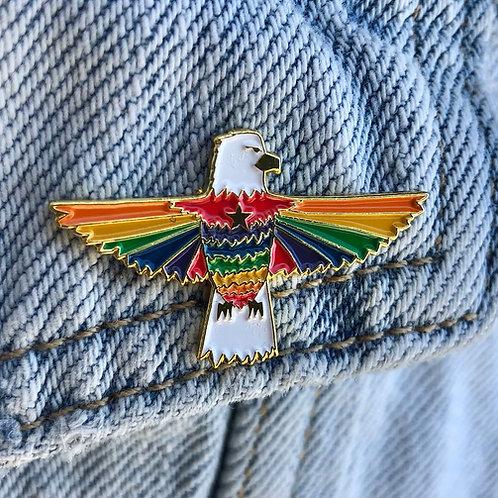 The Stone Foxes Eagle Logo Pin
