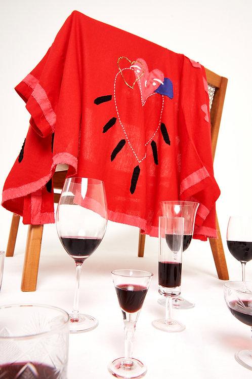 Kimono bordado coração de namorados