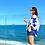 Thumbnail: Kimono Linho Bordado Estrela Azul