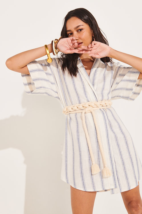 Kimono Linho Macramê