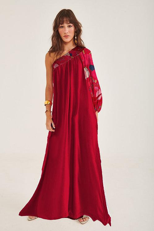 Vestido Deusa Longo Seda Boto