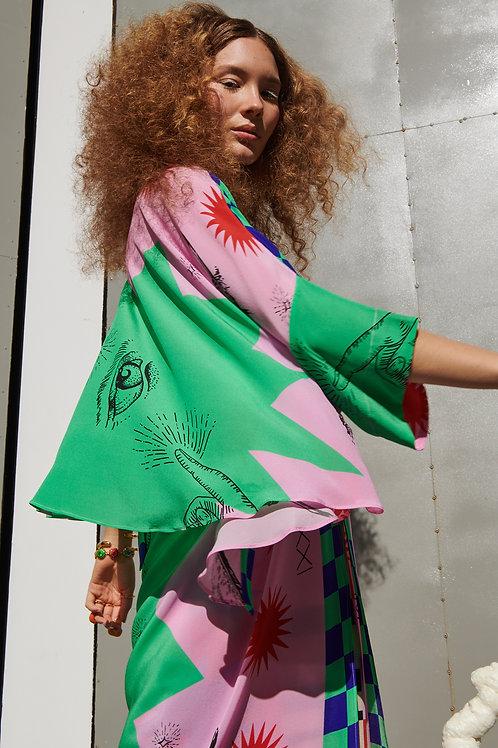 Kimono Seda Místico