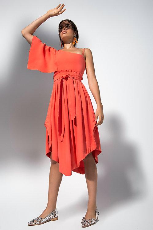 Vestido Tiula Coral