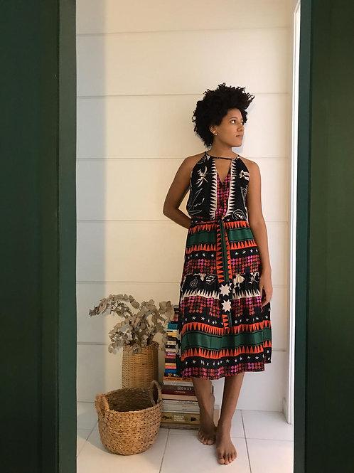 Vestido Seventie's Seda Marrocos
