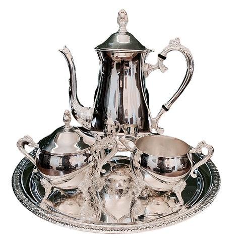 Silver Tea Set Decor