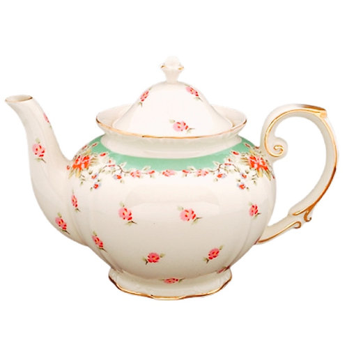 Teapot Rental - Elegant Rose Pattern