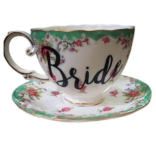 Mint Rose Bride Teacup