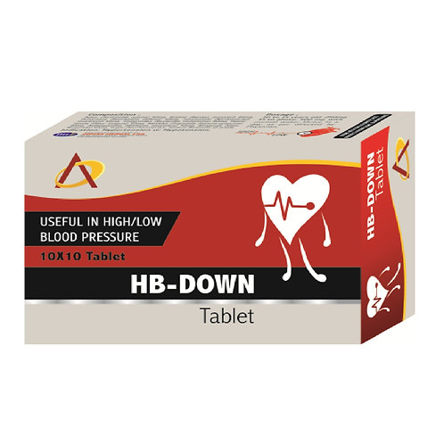 HB-DOWN Tablet (Pack of 10×10)