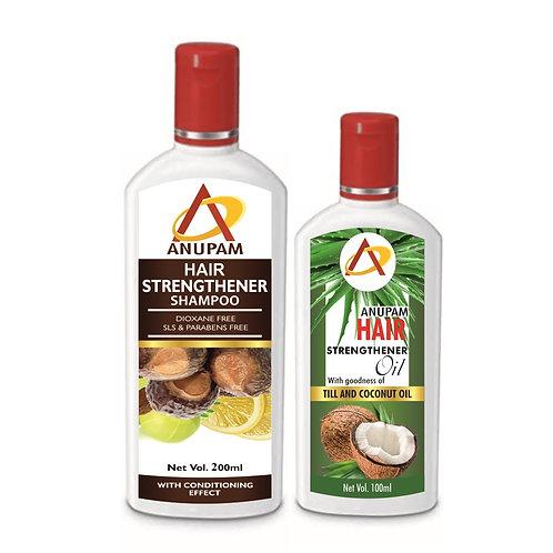 ANUPAM HAIR STRENGTHENER SHAMPOO & OIL KIT