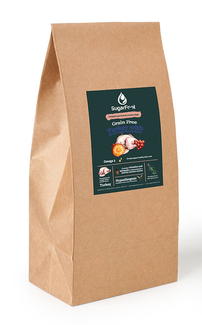 Premium Senior Dog Food - Turkey with Sweet Potato & Cranberry