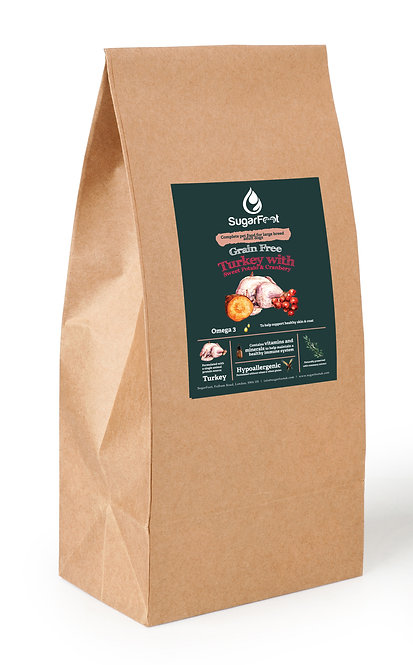 Premium Large Adult Food- Turkey with Sweet Potato & Cranberry