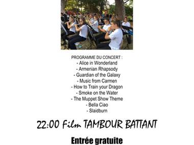 Musique Municipale de Versoix   Samedi 3 juillet 20:30 Ciné-Plage