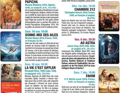Le programme de CinéVersoix novembre-décembre 2019