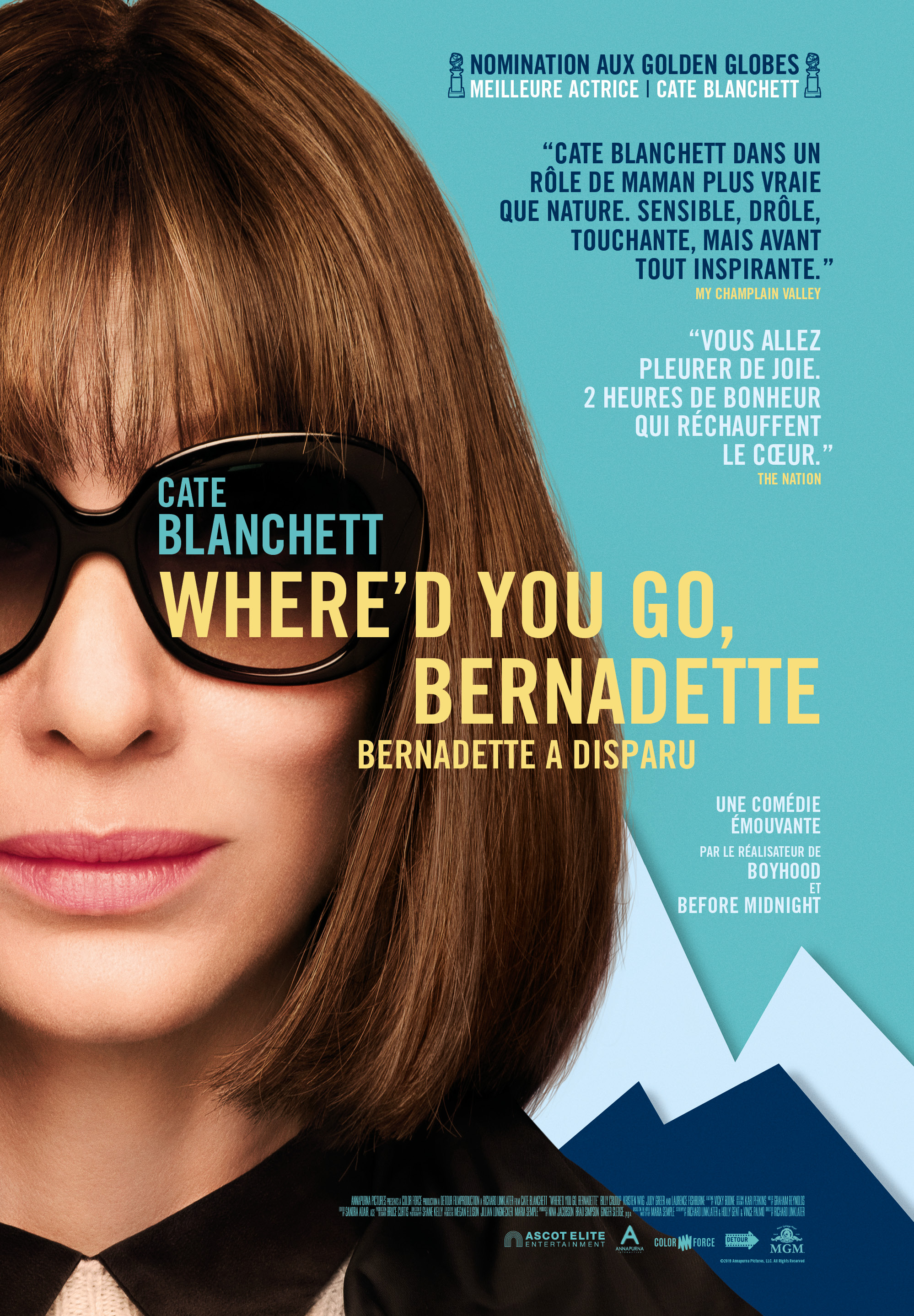 Where'd you go, Bernadette Samedi 10 octobre 20:30