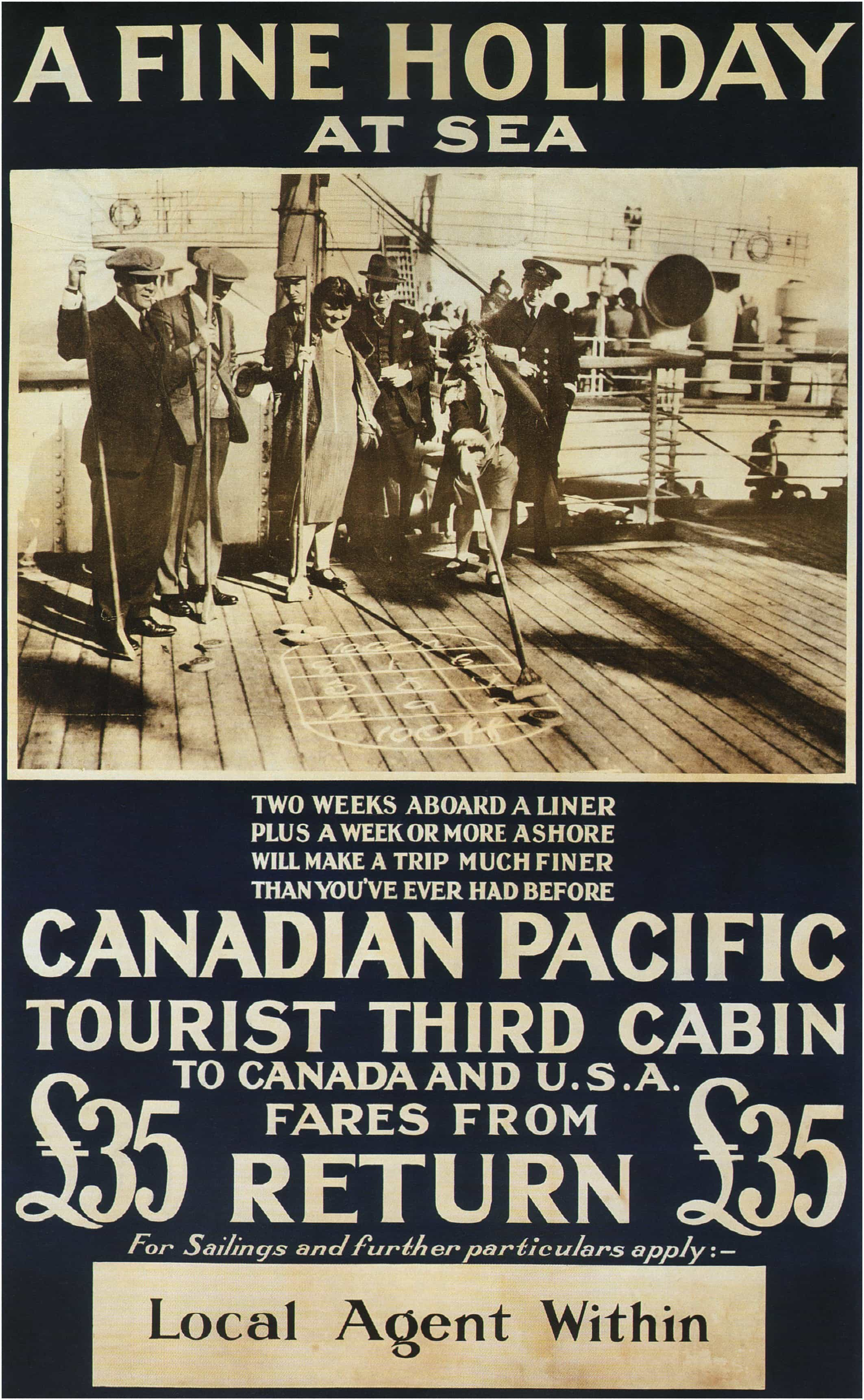 Canadina-Pacific-A-Fine-Holiday-at-Sea-Vintage-Travel-Poster