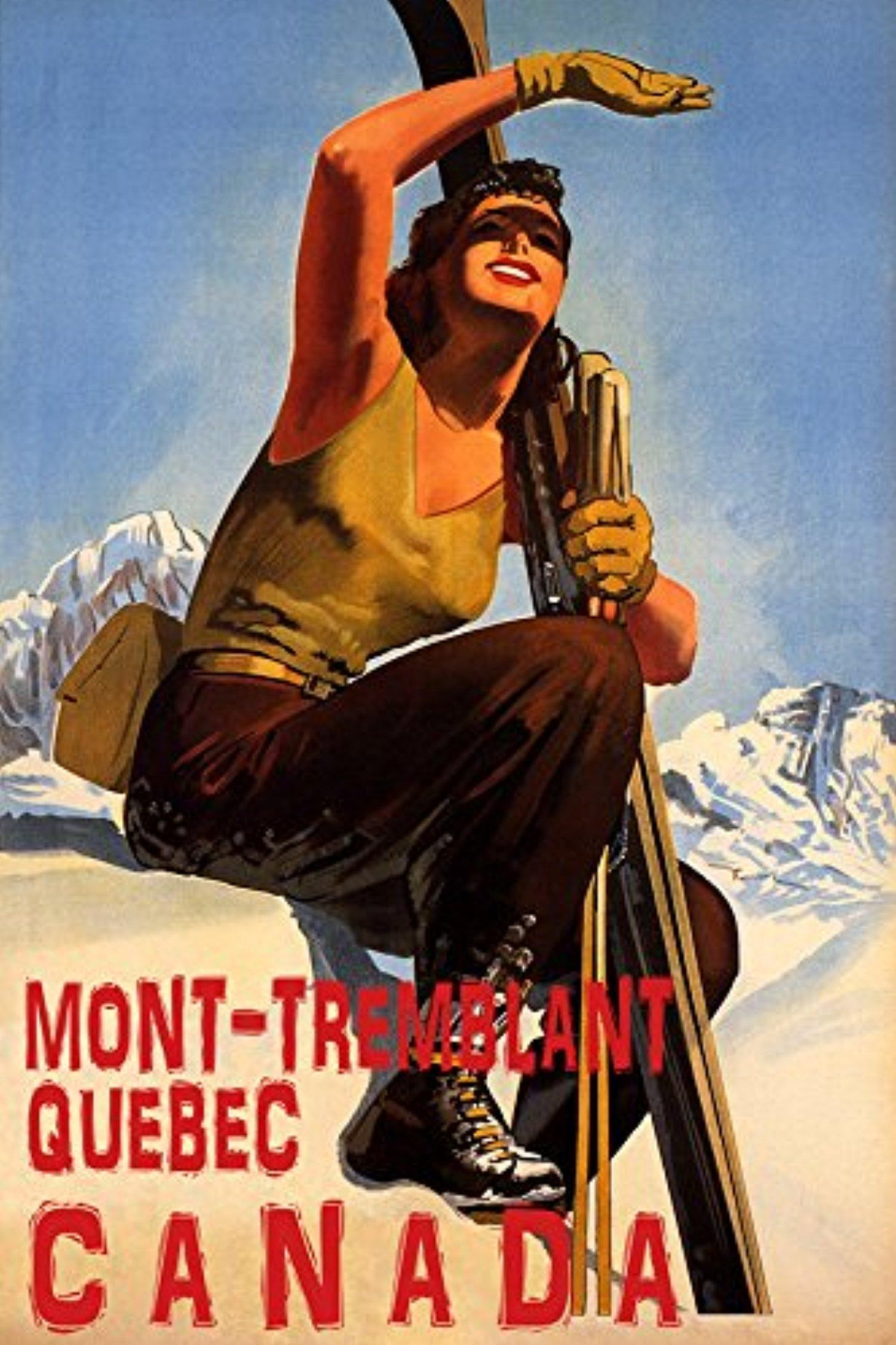 winter-sport-with-sun-mont-tremblant-quebec-canada-ski-mountains-woman-skiing-travel-12-x-16-vintage