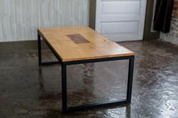 MAPLE COFFEE TABLE W/ WALNUT INLAY