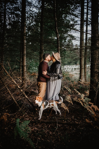 Couple-Wedding-Woodland-Autumn-Charlie-B