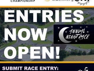 Entries open for the NIGHT RACE - BKF Maginn Machinery Round 6 of TKC 2017 Championship