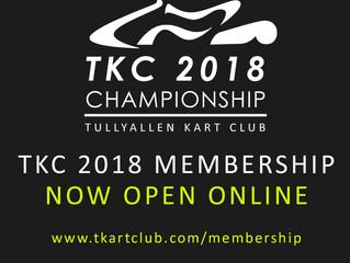 TKC 2018 Memberships now open!