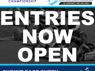 Entries now open for MKR Engines Round 3 of the TKC 2017 Championship