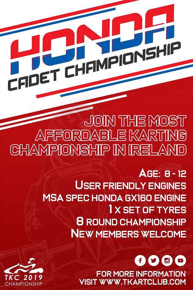 Honda Cadet TKC 2019 Championship   Home   TKC - Tullyallen Kart Club