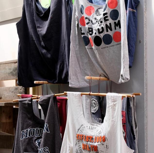 Indkøbstasker af t-shirts