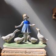 Porcelænsfigur af kongelige porcelænsmalere