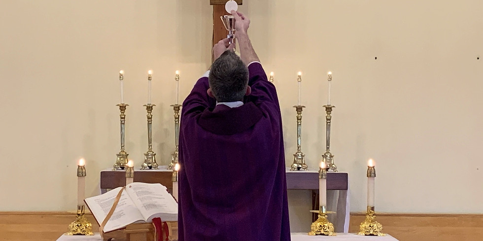 Mass - Sunday 12:00 noon AD ORIENTEM MASKS MANDATORY