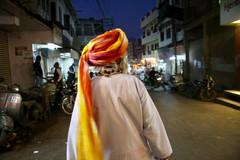 Old man walking in Jaipur