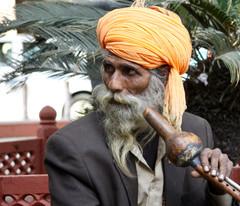 Snake charmer in New Dehli