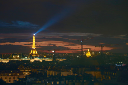Eiffel Tower from Centre Pompidou