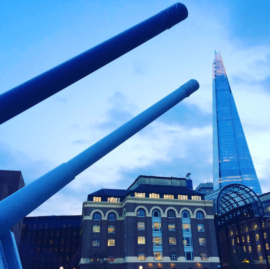 The Shard from the HMS Belfast, London