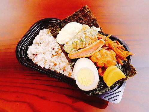 1月7日(火)雑穀米の白身魚タルタルのり弁当