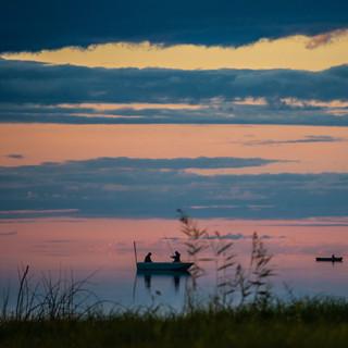 Рыбалка небесах, озеро Лача, Архангельская область  Fishing in the sunset skies, Lacha lake, Arkhangelsk region