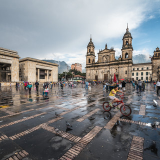 Площадь Боливара, главная площадь старого города Боготы Plaza Bolívar, the main square of the old town in Bogotá
