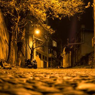 Улица Коджори замощена булыжником Kojori street still is paved with cobblestones