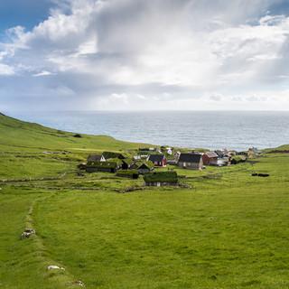 Деревня Мичинес и бесконечные воды Атлантики Mykines village and endless Atlantic waters