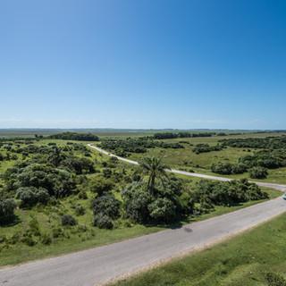 Типичный Уругвай: хорошие и почти пустынные дороги и бесконечная, уходящая до горизонта зеленая равнина  Typical Uruguay: good and almost deserted roads, and endless green plains