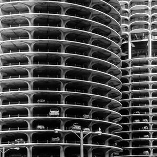 Комплекс Марина-Сити в Чикаго, Иллинойс Marina City complex, Chicago, IL