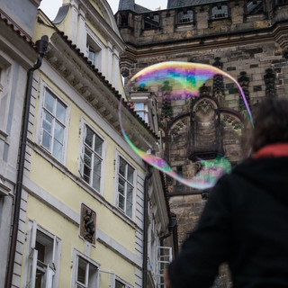 Пражская готика через мыльный пузырь Prague's gothic through a soap bubble