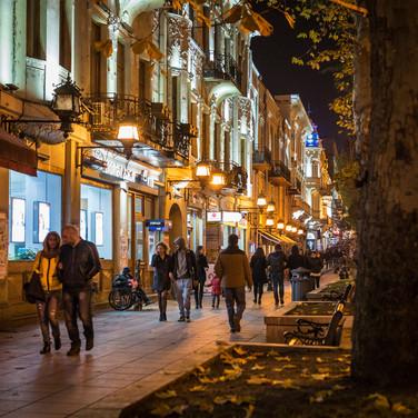 Проспект Руставели, главная улица Тбилиси Rustaveli Avenue, the main artery of Tbilisi